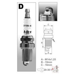 Gyújtógyertya: A-LINE 29 BRISK DR17TCY 4db/ csomag