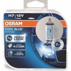 OSRAM COOL BLUE 2DB H7 xenon hatás