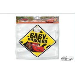Cars- Baby on Board - tapadókorongos tábla