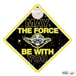 Baby on the board -Star wars Yoda- Baba a kocsiban tábla