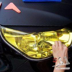 Autó lámpa-fólia sárga - 30*100cm