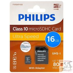 Philips microSDXC memóriakártya - Class 10 - 16GB