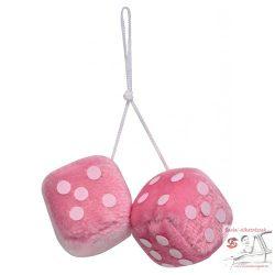 Rózsaszín dobókocka pár tükörre