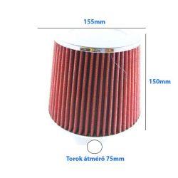 Direkt szűrő nagyméretű / sport levegőszűrő piros 155x150x75