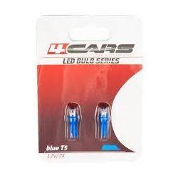 Izzó LED, műszerfal T5, 12V, 1W, kék (2db)