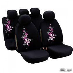 Csajos kisvirágos garnitúra (3db) üléshuzat, övpárna, szőnyeg