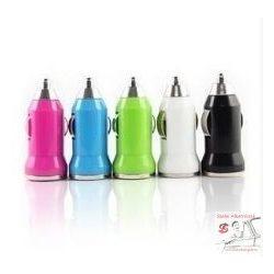 1-es USB töltő elosztó fehér/ fekete/rózsaszín 12/24V 1A