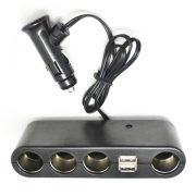 USB + Szivargyújtó elosztó