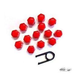 Kerékanya kupak - piros- 17mm (21db)