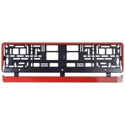 Rendszámtartó Red Metallic alsóléces - Piros rendszámtábla tartó