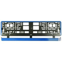 Rendszámtartó Blue Metallic alsóléces, kék fémhatású rendszátábla tartó
