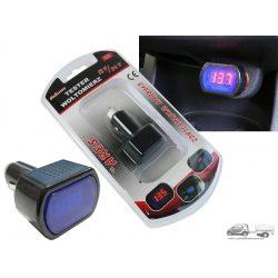 Szivargyújtós feszültségmérő,akkumulátor tester  ledes 12/24V (HD-AE-WF021)