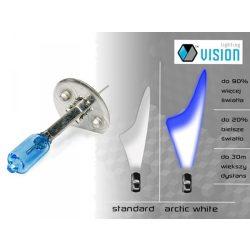 Halogén izzó H1 12V 55W Vision Arctic White 4300K + 90%, 2 db