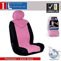 """""""unicorn"""" Fekete/pink csajos üléshuzat 1 db ülésre"""
