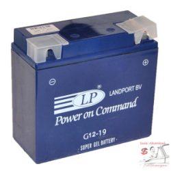 Landport géles akkumulátor 12V 19Ah/300A