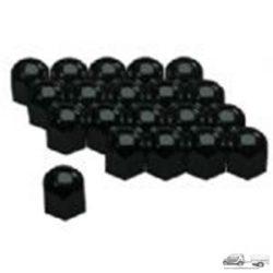 Argo Kerékanya kupak -  fekete - 17mm (20db ) csomag