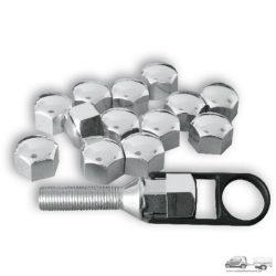 Kerékanya kupak - króm- 19mm (20db)