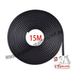 Fekete 15m hosszú 12mm széles díszcsík