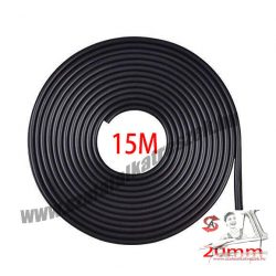 Fekete 15m hosszú 20mm széles díszcsík