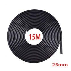 Fekete 15m hosszú 25mm széles díszcsík