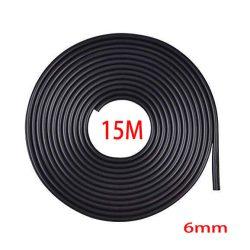 Fekete 15m hosszú 6mm széles díszcsík
