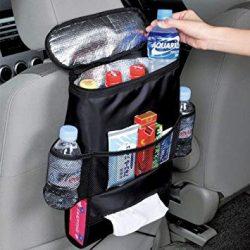 Fejtámlára csatolható autós hűtőtáska sok zsebbel