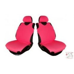 Pink trikó üléshuzat párban - fejtámla huzattal