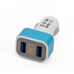 2-es USB töltő + Digitális voltmérő