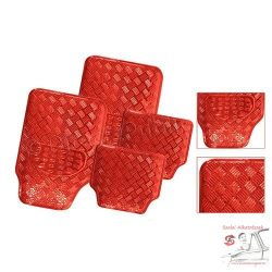 Gumiszőnyeg készlet- fém hatású -  Piros - metál red