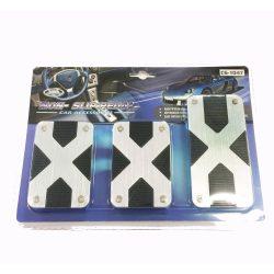 Pedál szett X-type, fém+gumi