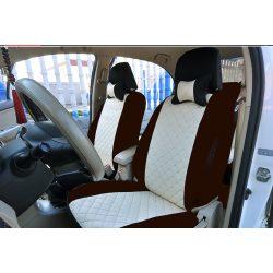 Univerzális bézs/krém steppelt üléshuzat garnitúra 5 személyes autókhoz