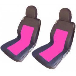 Erősített, vállban trikó üléshuzat első ülésekhez - pink/rózsaszín -fekete