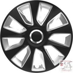 Versaco Stratos Ring Chrome Black & Silver 15-ös dísztárcsa garnitúra