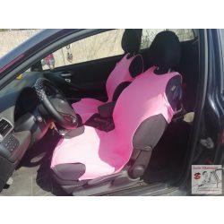 Világos rózsaszín trikó üléshuzat pár PAMUT