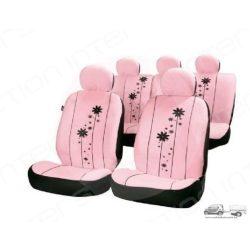 Csajos üléshuzat - Urban Girl: Rózsaszín üléshuzat szett virágokkal