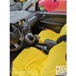 Sárga trikó üléshuzat szett, Pamut